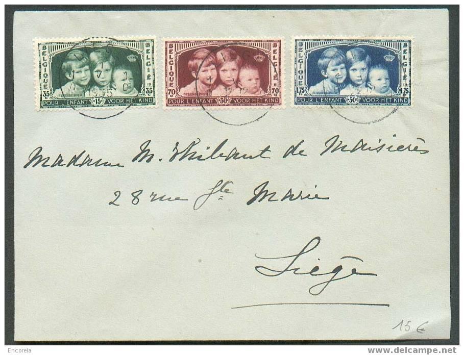 N°404/406 - Enfants Royaux, Série Obl. Sc LIEGE S/L. Du 11-5-1935.  TB - 2101 - Belgium
