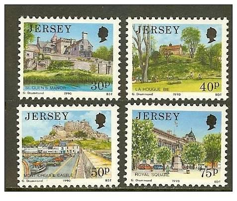 JERSEY 1990 MNH Stamp(s) Definitives 512-515 #4308 - Jersey