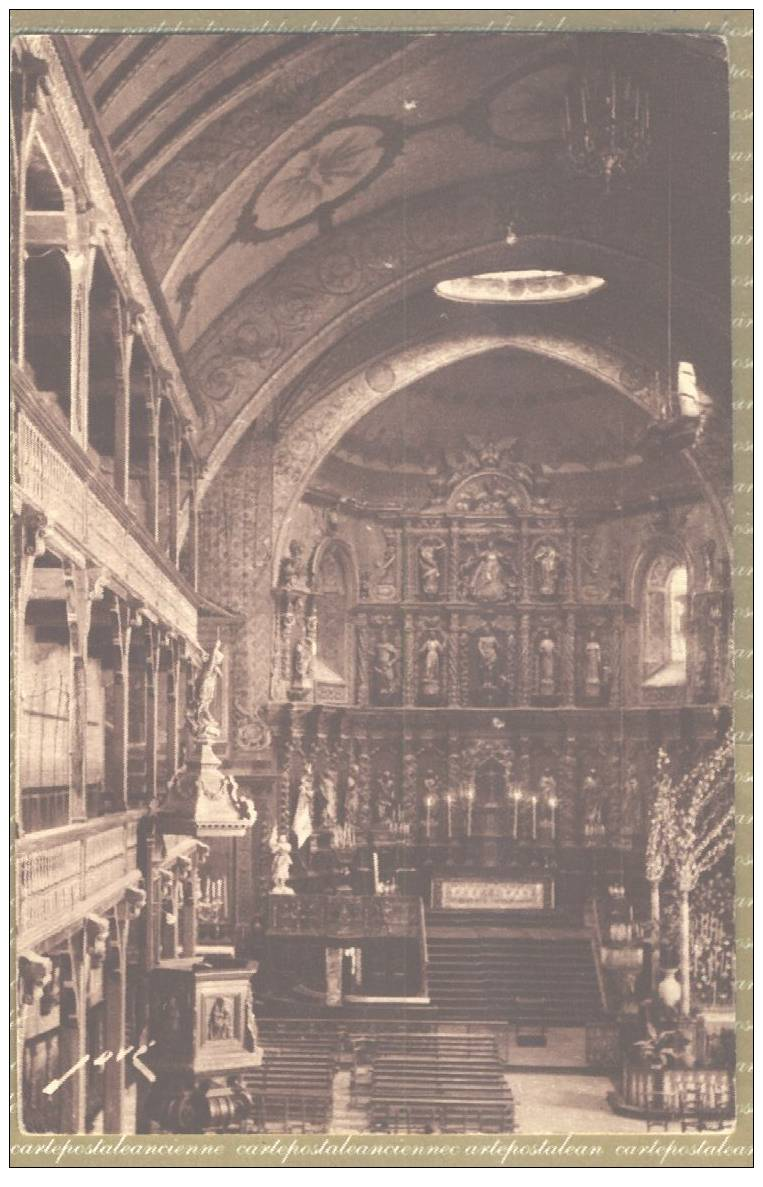 64 SAINT JEAN DE LUZ CPSM Postée 1954 INTERIEUR EGLISE ¤ JOVE 238 Etat TTB   ¤ Pyrénées Atlantiques C4973 - Saint Jean De Luz