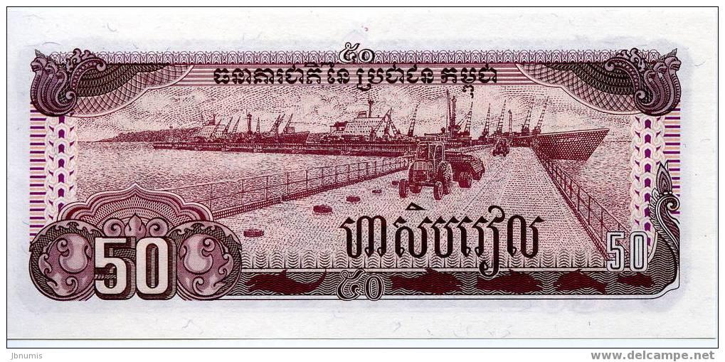 Cambodge Cambodia 50 Riels 1992 UNC P35a - Cambodia