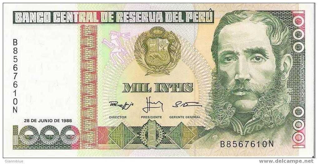 Peru - Banknote/Billet - 1000 Intis 28/5/1988 - Pérou