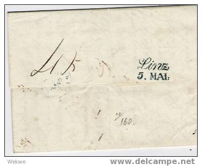 Nlc008 / Brief,  1843 – Amsterdam-Linz – Mit 2-Zeiler Franco Coblentz Als Luxusabschlag - Niederlande