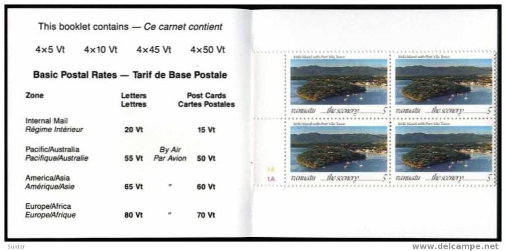 VANUATU – Carnet** De 16 TP Représentant Des Paysages Locaux (4 Types Différents) - Vanuatu (1980-...)
