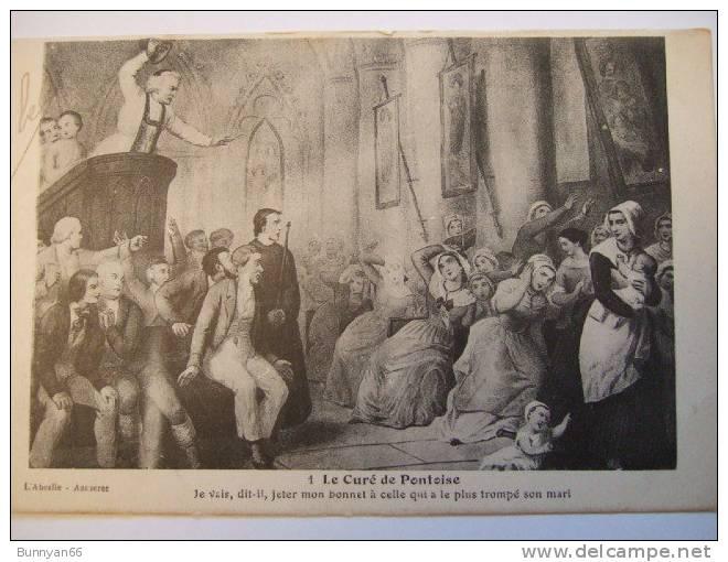 2 CPA PONTOISE 1) PANORAMA VERS SAINT-OUEN-L'AUMONE 2) CURE DE PONTOISE LITHOGRAPHIE 1864 De DUBOULOZ - Pontoise