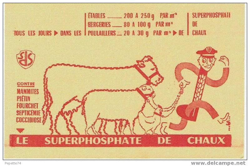 Buvard Le Superphosphate De Chaux - Buvards, Protège-cahiers Illustrés