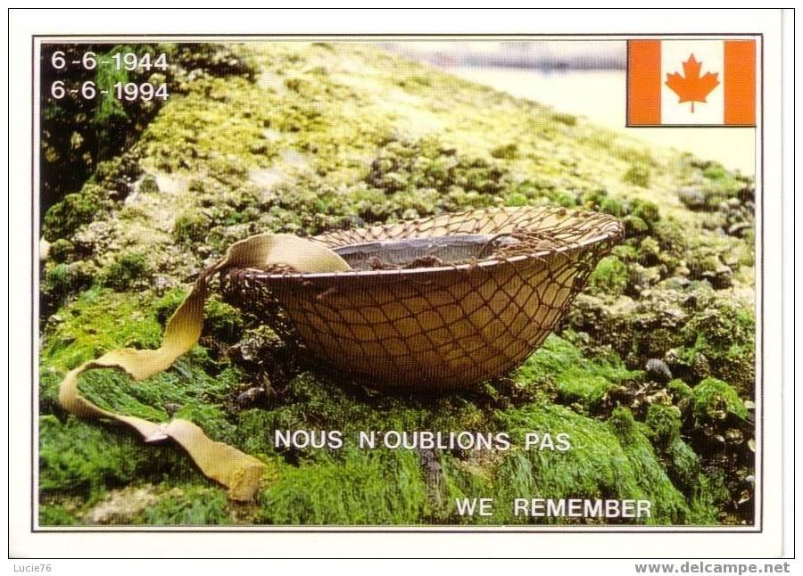 DEBARQUEMENT En NORMANDIE -  Carte Souvenir Du 50è Anniversaire   -  Casque -   N° 781 C - Guerre 1939-45