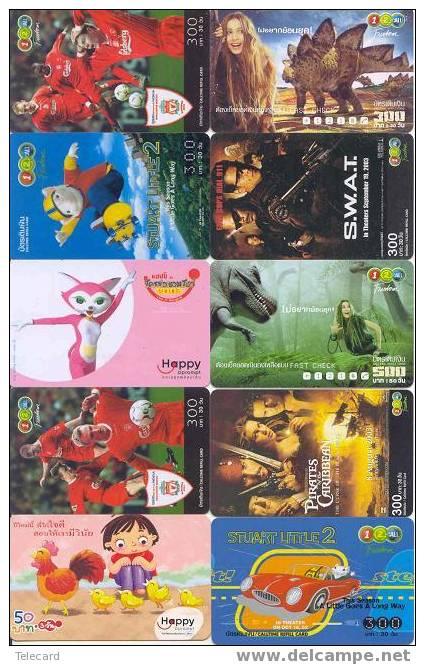 THAILAND Thailande 10 Telecartes Phonecards (22) - Thaïlande