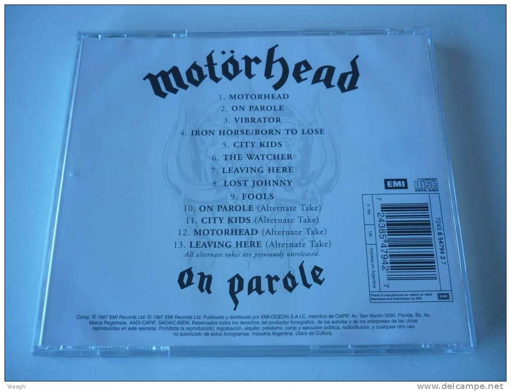 MOTORHEAD On Parole CD ARGENTINA Press - Hard Rock & Metal
