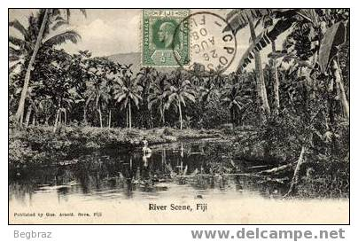 RIVER SCENE     TIMBRE CACHET - Fidji