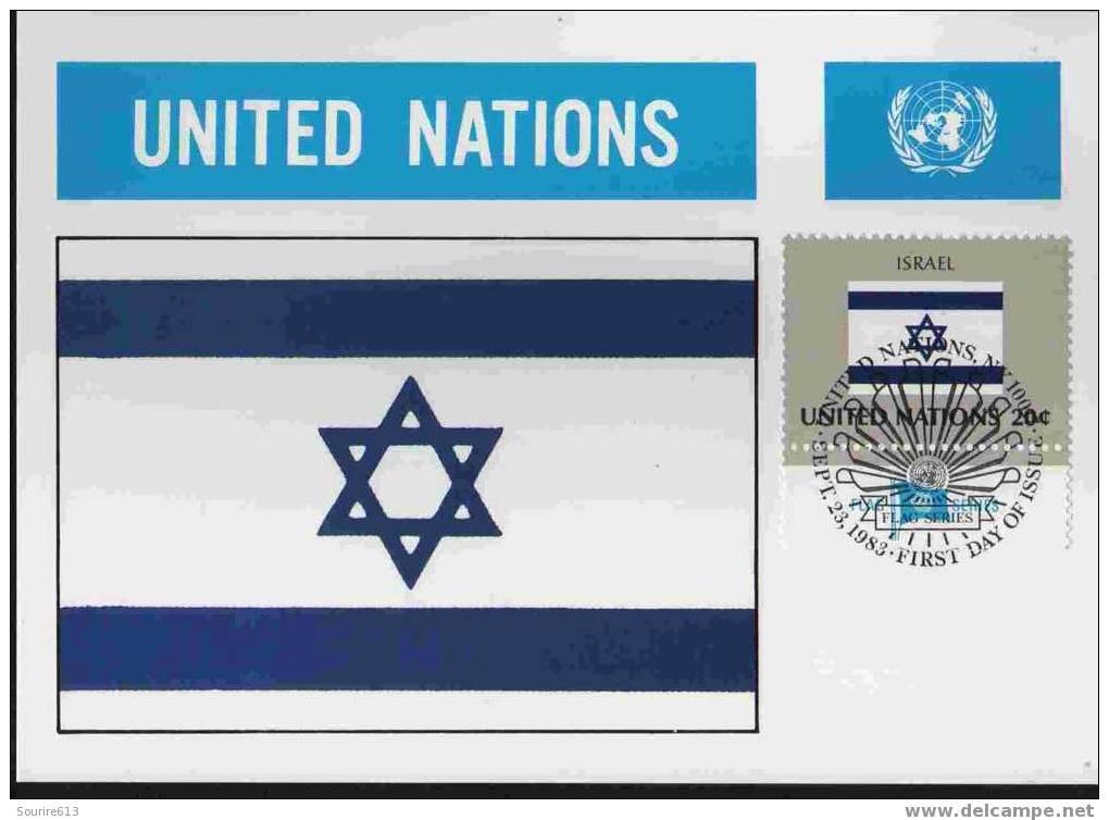 CPJ Nations Unies 1983 Drapeaux Israël - Briefe