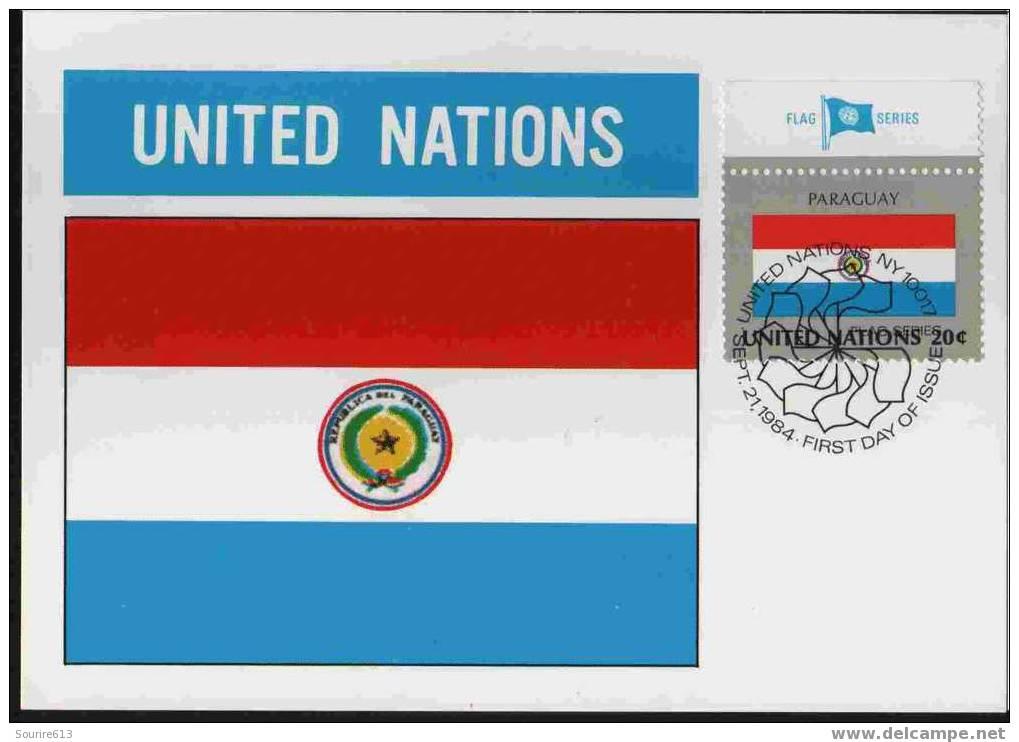 CPJ Nations Unies 1984 Drapeaux Paraguay - Briefe