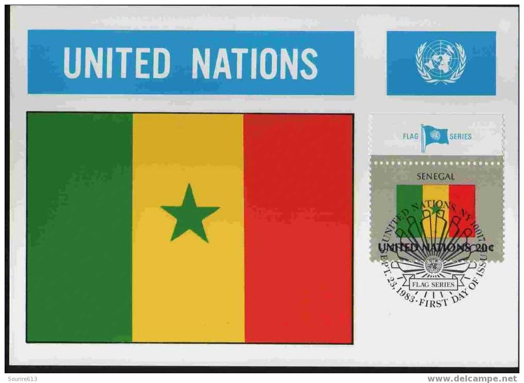 CPJ Nations Unies 1983 Drapeaux Sénégal - Briefe