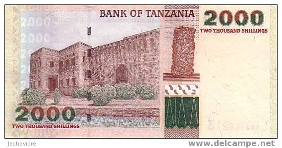 TANZANIE   2 000  Shillings   Non Daté (2003)   Pick 37     ***** BILLET  NEUF ***** - Tanzanie