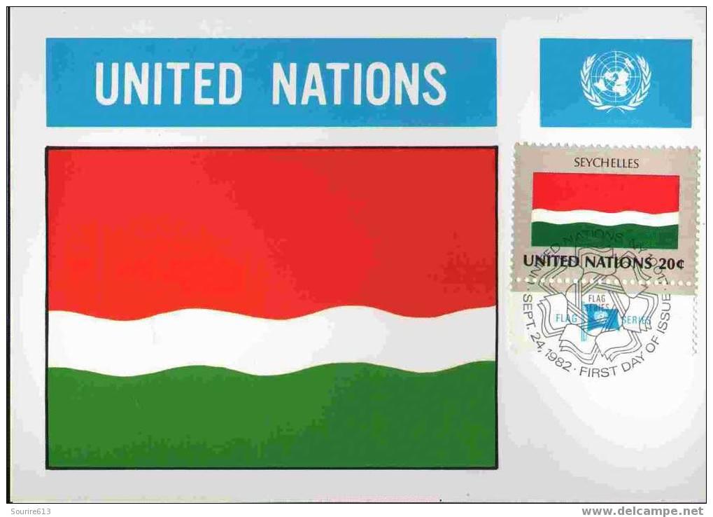 CPJ Nations Unies 1982 Drapeaux Seychelles - Briefe