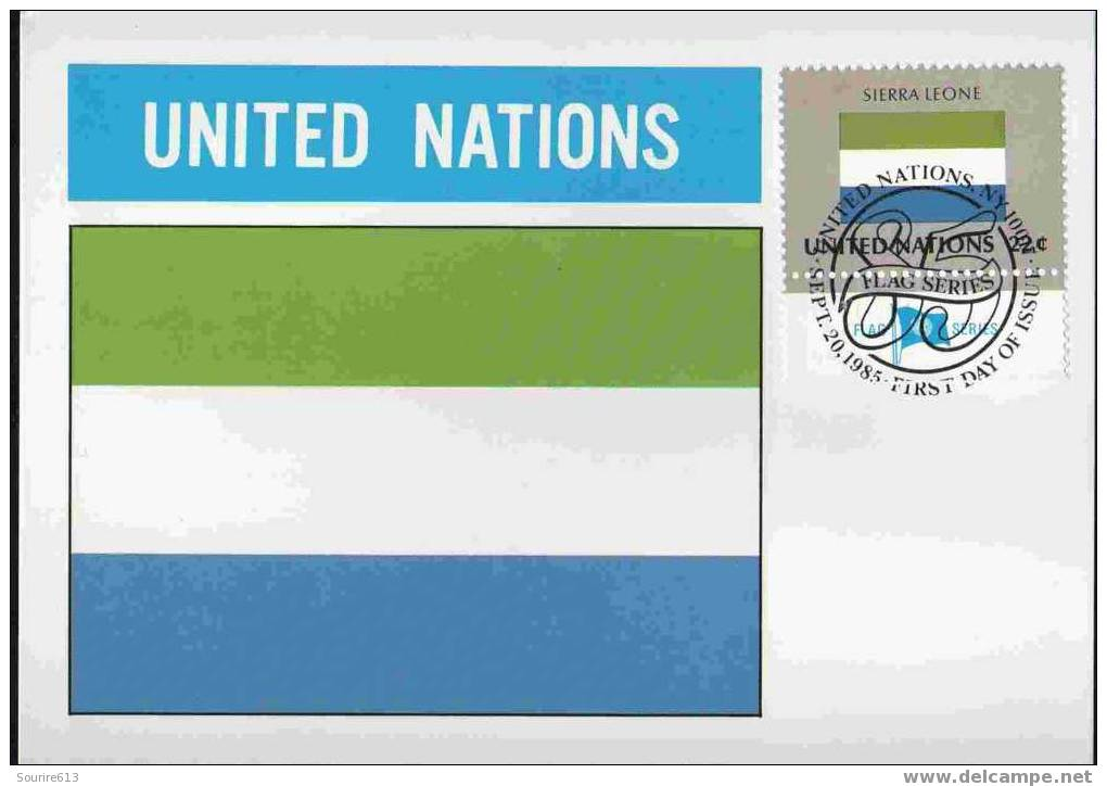 CPJ Nations Unies 1985 Drapeaux Sierra Leone - Briefe