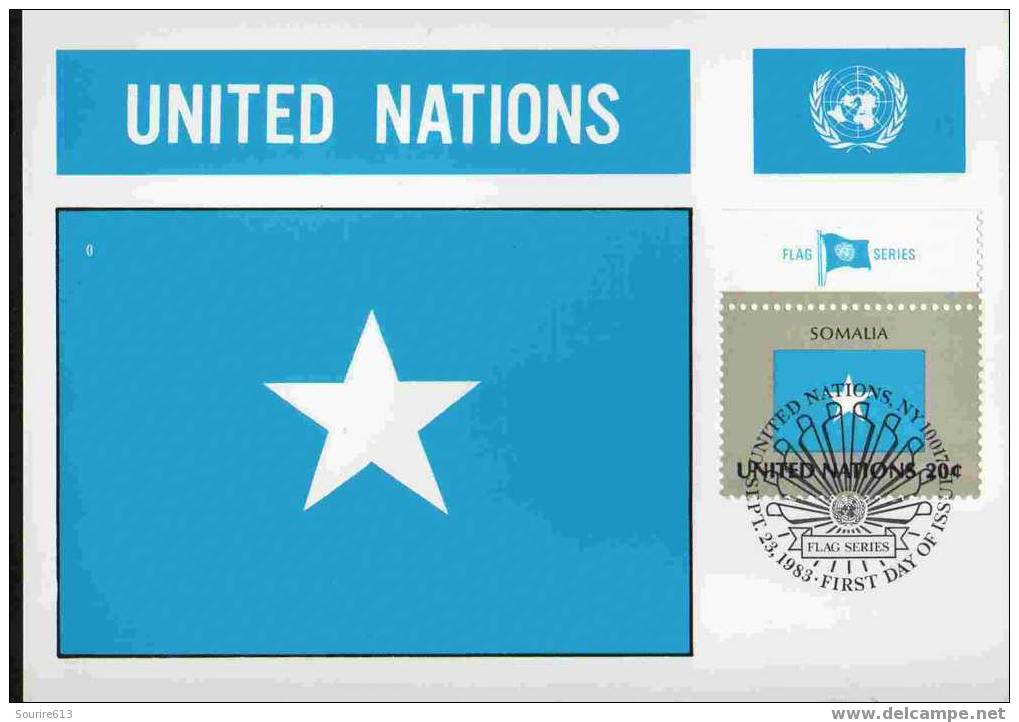 CPJ Nations Unies 1983 Drapeaux Somalie - Covers