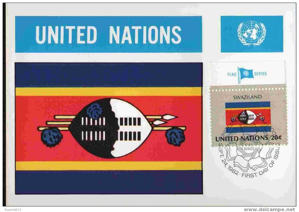 CPJ Nations Unies 1982 Drapeaux Souaziland - Briefe