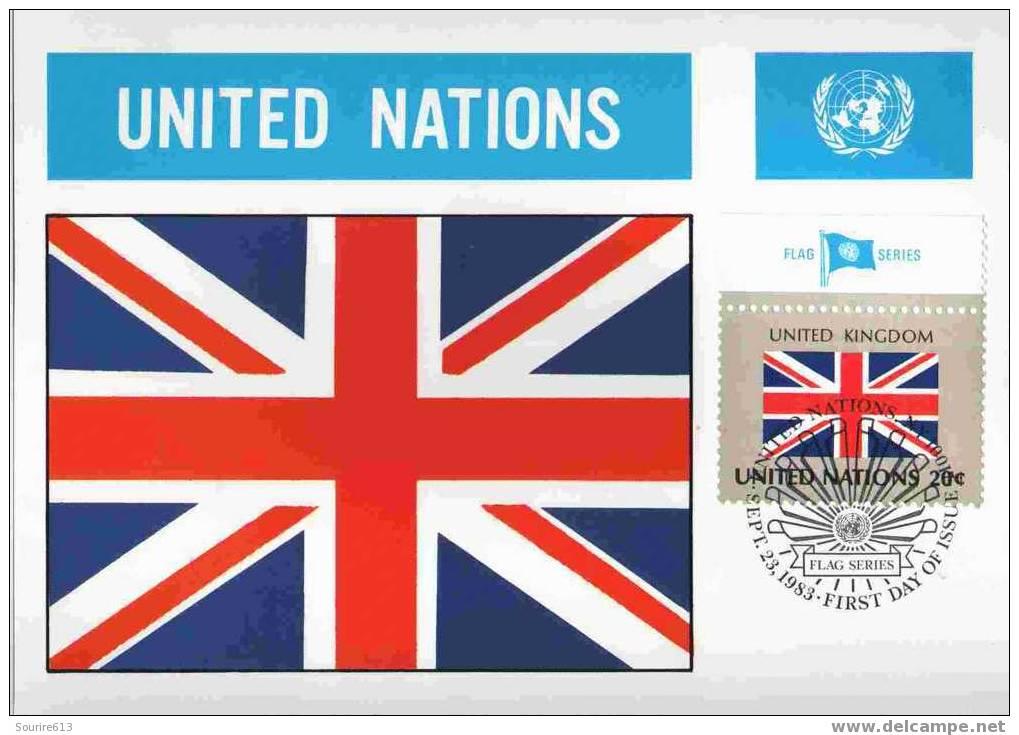 CPJ Nations Unies 1983 Drapeaux Royaume Uni - Briefe