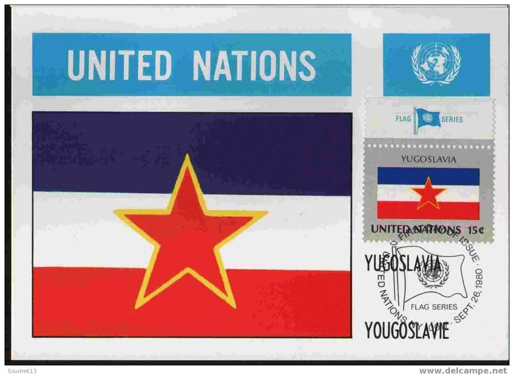 CPJ Nations Unies 1980 Drapeaux Yougoslavie - Briefe