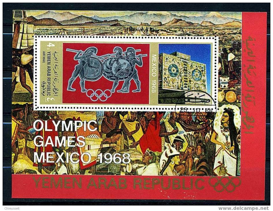 Yemen    Bloc Oblit. - Mexico 1968 - Summer 1968: Mexico City