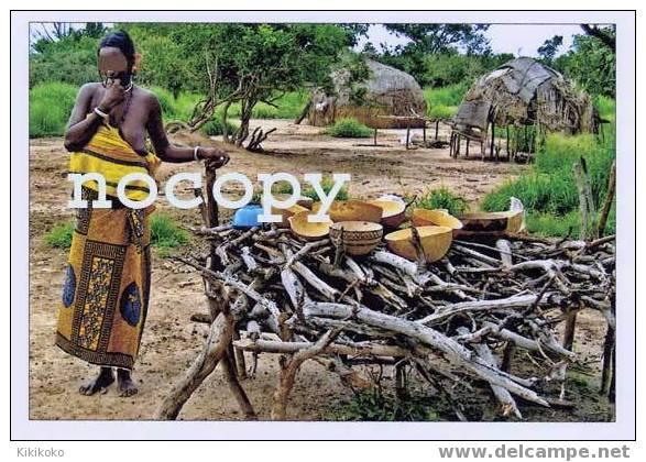 1301-AFRICA BURKINA Les Calebasses Du Repas Sèchent Au Soleil Au Village Peul - Burkina Faso