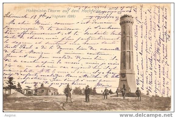 Chateau D Eau - Ref No 20-hoenlohe Thurm Auf Dem Hochfelde -vosges -carte Allemande 1900 - - Châteaux D'eau & éoliennes