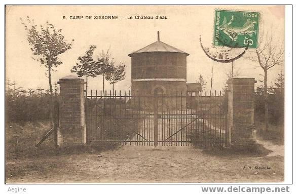 Chateau D Eau - Ref No 15-  Camp De Sissonne - Le Chateau D Eau  - Bon Etat - Châteaux D'eau & éoliennes