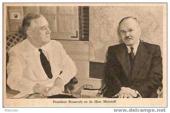 GUERRE 1939-1945- Ref No 63- President Roosevelt En De Heer Molotoff  -bon Etat - Guerre 1939-45