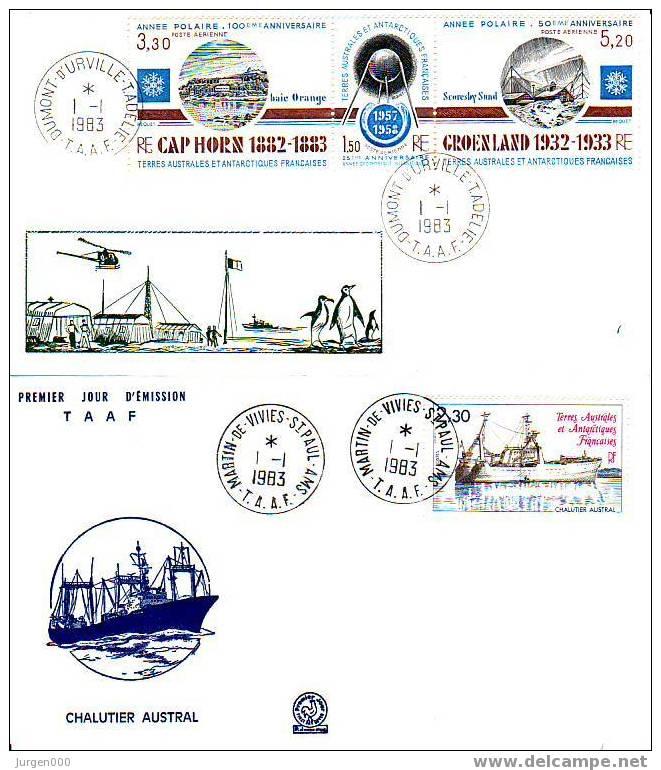 Nr 175, 177/179 FDC (Y10397) - Terres Australes Et Antarctiques Françaises (TAAF)