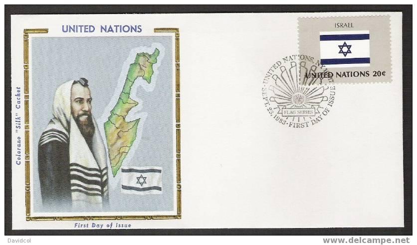 S901.-.U.N. / O.N.U - SILK COVER-  ISRAEL // ISRAEL FLAG- BEAUTIFUL COVER. - Briefe