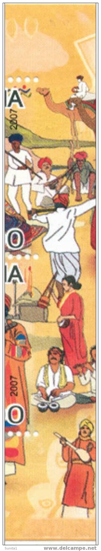 Perforation Error, Elephant, Camel, Musical Instruments, Carnival, Puppet, Bridge, Costumes,fairs, INDIA - Elephants
