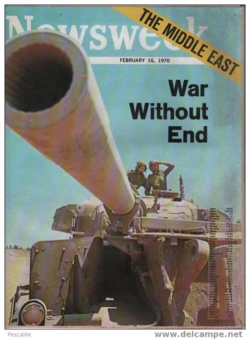 NEWSWEEK FEBRUARY 16,1970 - ISRAEL - EGYPTE - MAGHREB - NIXON - BOB HOPE ... - Nouvelles/ Affaires Courantes