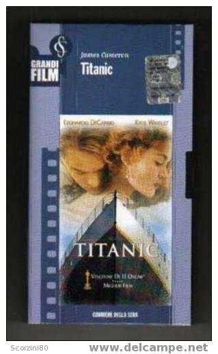 VHS-TITANIC Leonardo Di Caprio Originale - Dramma
