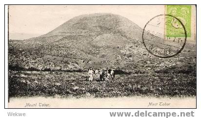 Pal034/ Nazareth 1904, Ansicht Mont Tabor. - Palästina