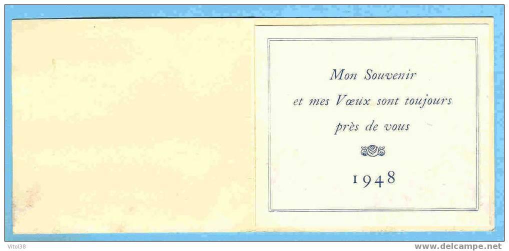 CALENDRIER 1948 MON SOUVENIR ET MES VOEUX SON TOUJOURS PRES DE VOUS - Calendriers