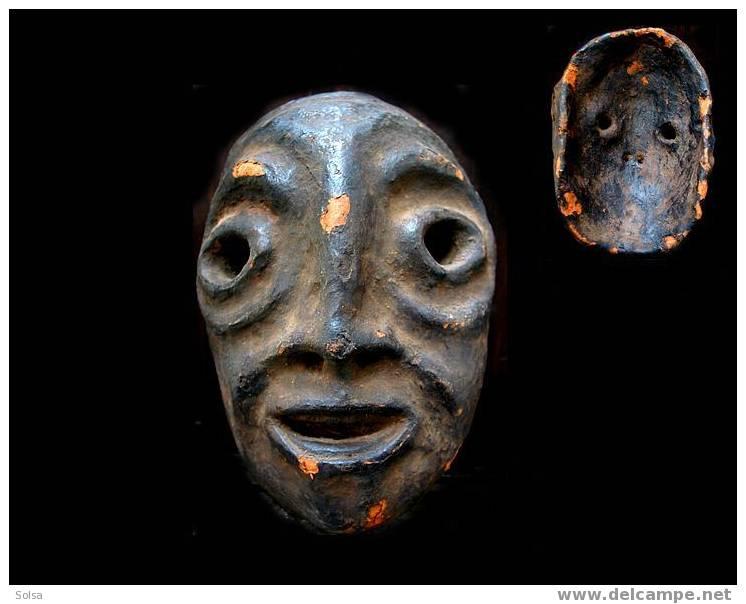 Masque De Sage En Terre Cuite - Art Africain
