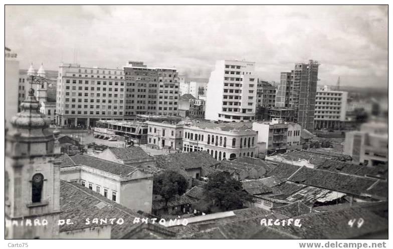 BRESIL - Bario De Santo Antonio - Recife - Carte Photo - Recife