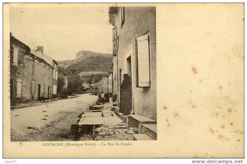 DOURGNE 81 - Rue Saint-Sapin ( Montagne Noire) - Dourgne