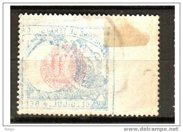 Mu 2333 Ocb Spoor 38  HERVE Zegelbeeld Op Voor En Verschoven  Spiegelbeeld Op Achterzijde - 1895-1913