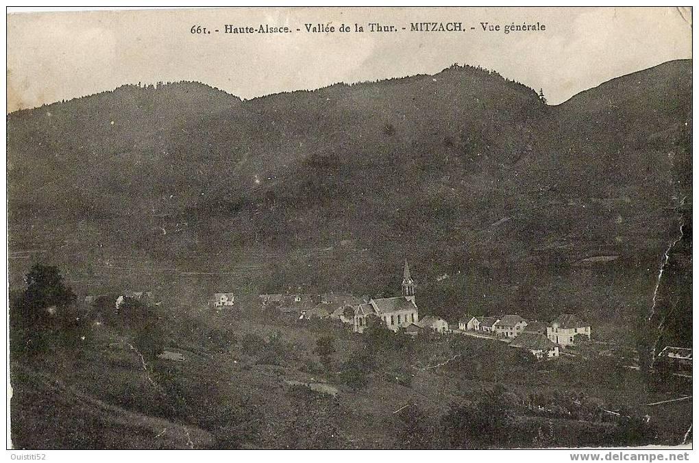 Mitzach   Vallée De La Thur  Vue Générale Trace Usure - France