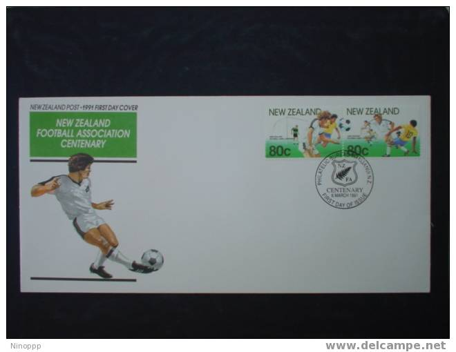New Zealand-1991 New Zealand Football Association Centenary   FDC - Rugby
