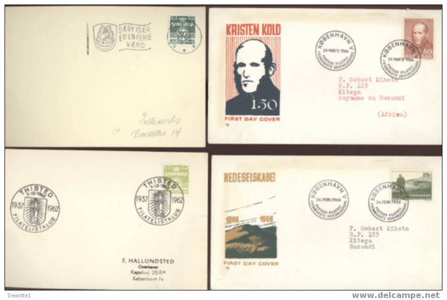 Cachet Divers Sur  D'enveloppes  Et Cartes De Danmark - Lotes & Colecciones