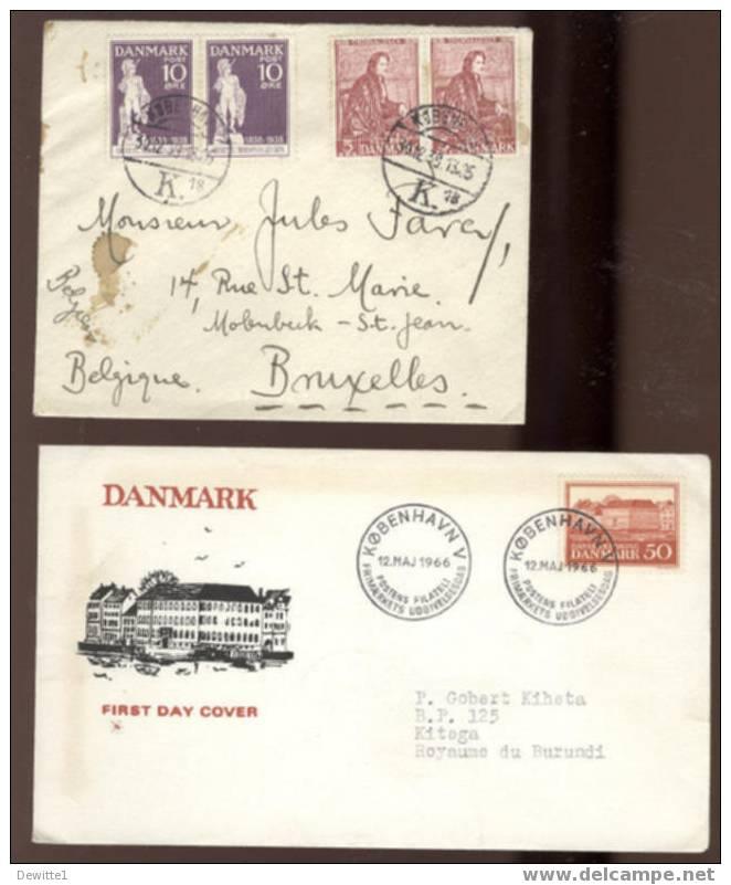 Cachet Divers Sur  D'enveloppes  Et Cartes De Danmark - Dinamarca