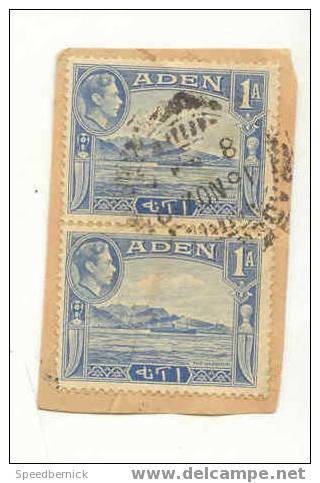 7529 . Aden 1 A Bleu . 2 Ex - Aden (1854-1963)