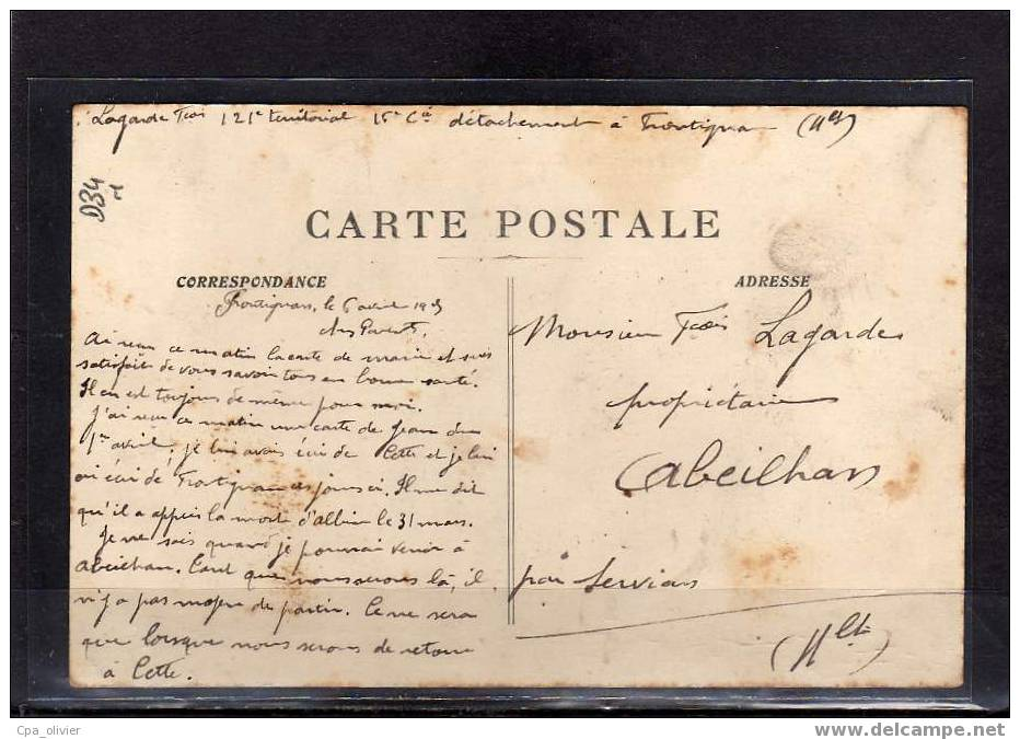 34 FRONTIGNAN Boulevard De La Gare, Animée, Tonneaux, Ed Bardou, 1915 - Frontignan