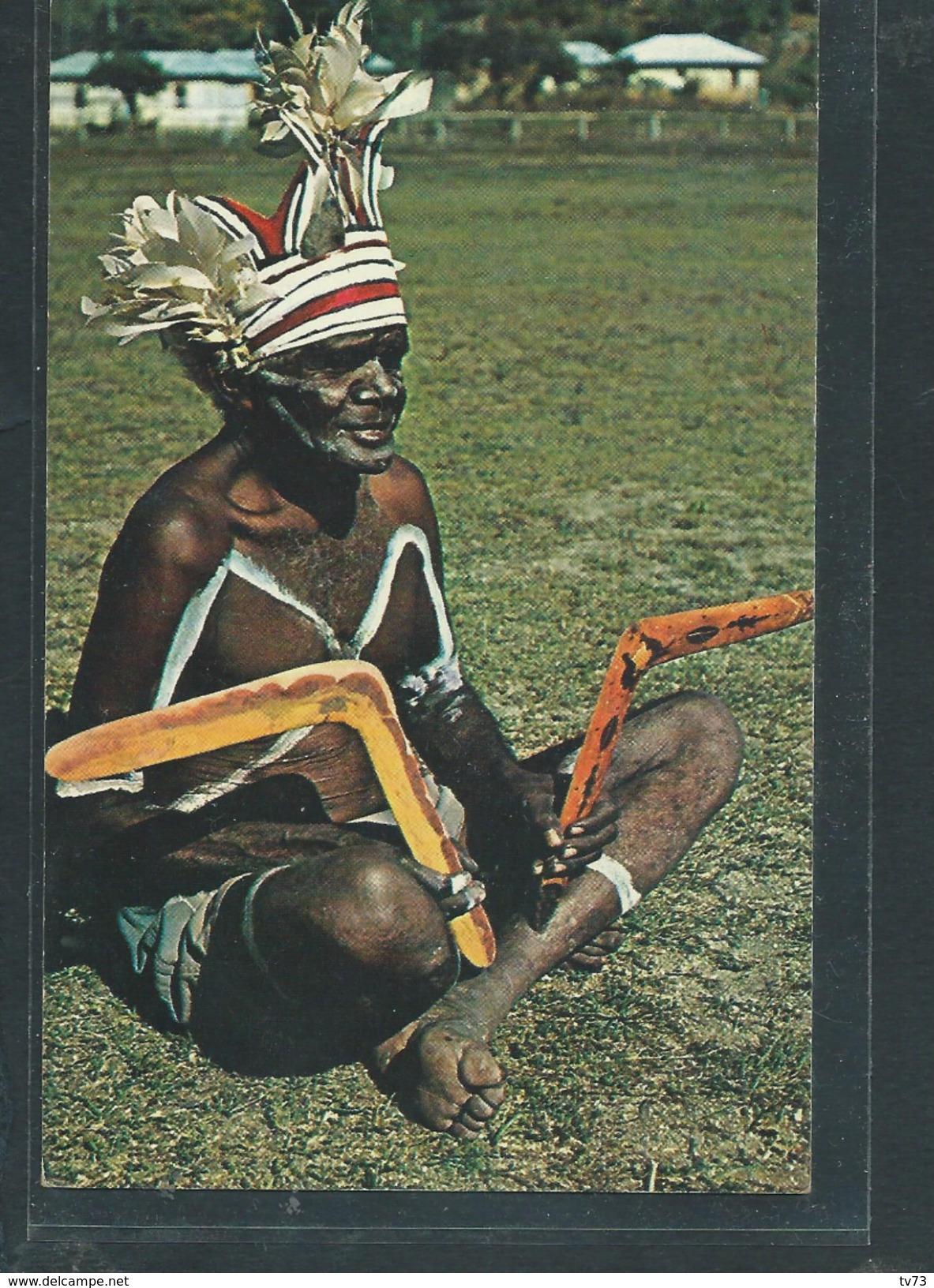 Cpc 029 - Australian Aboriginal With Boomerangs (Autralie) - Aborigènes
