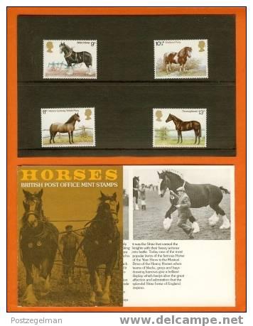 UK 1978 Souvenir Book Horses 769-772 F1051 - Horses