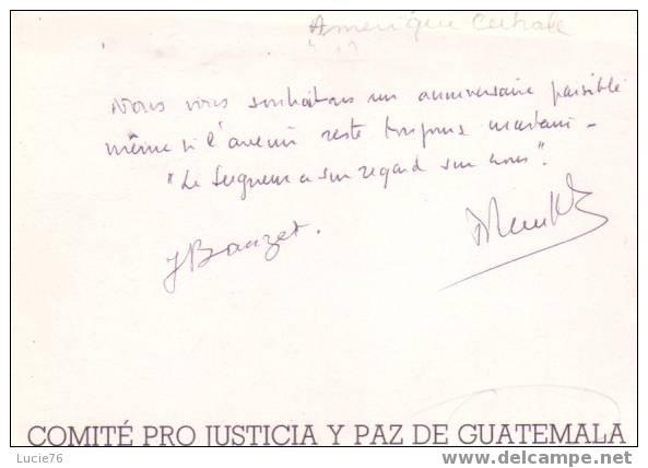 GUATEMALA -  Comité Pro  Justicia Y Paz De Guatemala - Guatemala
