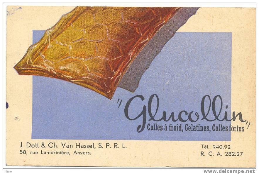 """Buvard - Colles """"GLUCOLLIN"""" - Anvers - Antwerpen (671) - Buvards, Protège-cahiers Illustrés"""