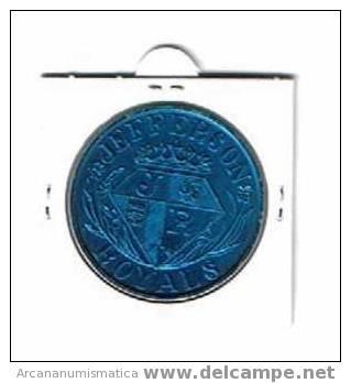 ESTADOS UNIDOS U.S.A.  Medalla JEFFERSON  ROYALS        DL-621 - Estados Unidos